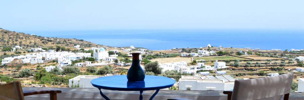 The view from Marana rooms in Apollonia of Sifnos